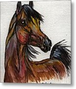 The Bay Horse 1 Metal Print