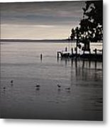 The Bay Is Frozen Metal Print