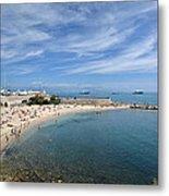 The Beach At Cap D' Antibes Metal Print
