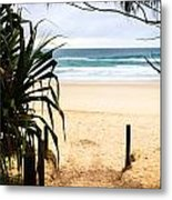 The Beach At Salt Metal Print