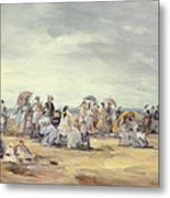 The Beach At Trouville, 1873 Metal Print