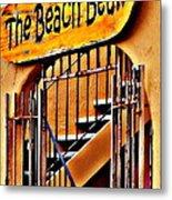 The Beach Bean Metal Print