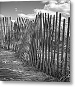 The Beach Fence Metal Print by Scott Norris