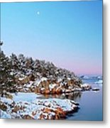 The Beach In December Metal Print