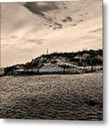 The Beach In Sepia Metal Print