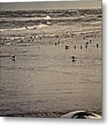 The Beach Is Ours Metal Print