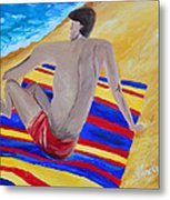 The Beach Towel Metal Print