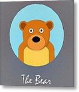 The Bear Cute Portrait Metal Print