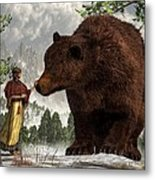 The Bear Woman Metal Print