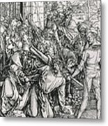 The Bearing Of The Cross From The 'great Passion' Series Metal Print by Albrecht Duerer