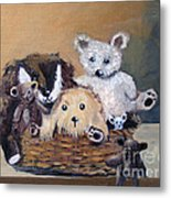 The Bears Are Back In Town Metal Print by Sharon Burger