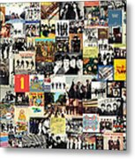 The Beatles Collage Metal Print by Taylan Apukovska