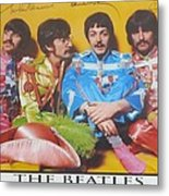 The Beatles Metal Print by Donna Wilson