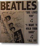 The Beatles Ed Sullivan Show Poster Metal Print