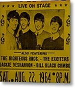 The Beatles First Time In Canada. Metal Print