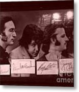 The Beatles In Old Photo Process At Fudruckers Metal Print