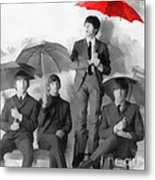 The Beatles - Paul's Red Umbrella Metal Print