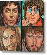 The Beatles Quad Metal Print