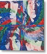 The Beatles Squared Metal Print