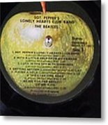 The Beatles Vinyl - Sgt. Pepper's Metal Print