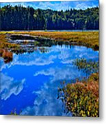 The Beautiful Cary Lake - Old Forge New York Metal Print