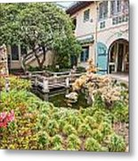 The Beautiful Courtyard Of The Pacific Asia Museum In Pasadena. Metal Print