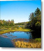 The Beautiful Moose River In Old Forge New York Metal Print