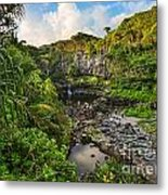 The Beautiful Scene Of The Seven Sacred Pools Of Maui. Metal Print