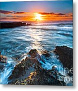 The Beautiful Sunset Beach Metal Print