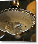 The Beauty Of A Vintage Glass Ceiling Light Metal Print
