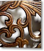 The Beauty Of Brass Scrolls 1 Metal Print