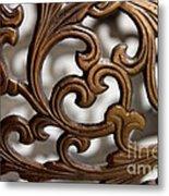 The Beauty Of Brass Scrolls 2 Metal Print