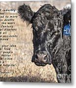 The Beef Industry Metal Print