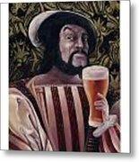 The Beer Drinker Metal Print