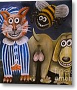 The Bees Knees The Cats Pyjamas And The Dogs Bollocks Metal Print