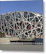 The Beijing National Stadium - Site Of 2008 Olympic Games Metal Print by Brendan Reals
