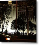 The Bellagio At Night Metal Print