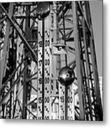 The Bells Of Coney Island In Black And White Metal Print