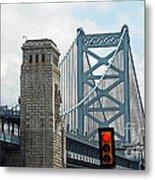 The Ben Franklin Bridge Metal Print