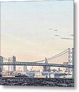 The Ben Franklin Bridge From Penn Treaty Park Metal Print