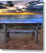 The Bench II Metal Print by Peter Tellone
