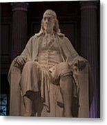 The Benjamin Franklin Statue Metal Print