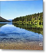 The Best Beach In Glacier National Park Panorama 2 Metal Print