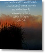 The Bible John Three Eight Metal Print