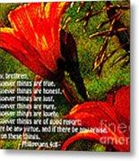 The Bible Philippians 4 Metal Print