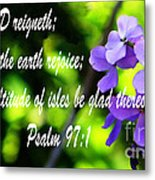 The Bible Psalms 97 Metal Print