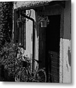 The Bicycle Under The Porch Metal Print