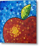 The Big Apple - Red Apple By Sharon Cummings Metal Print