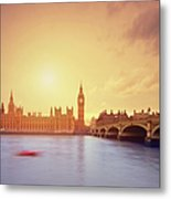 The Big Ben And Parliament In London Metal Print