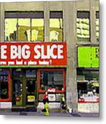The Big Slice Pizzeria Downtown Toronto Restaurants Doner Kebob House Street Scene Painting Cspandau Metal Print
